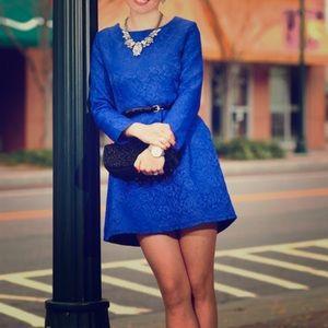 Chicwish blue embossed minidress Size M EUC